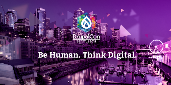Promotion image of DrupalCon 2019 in Seattle