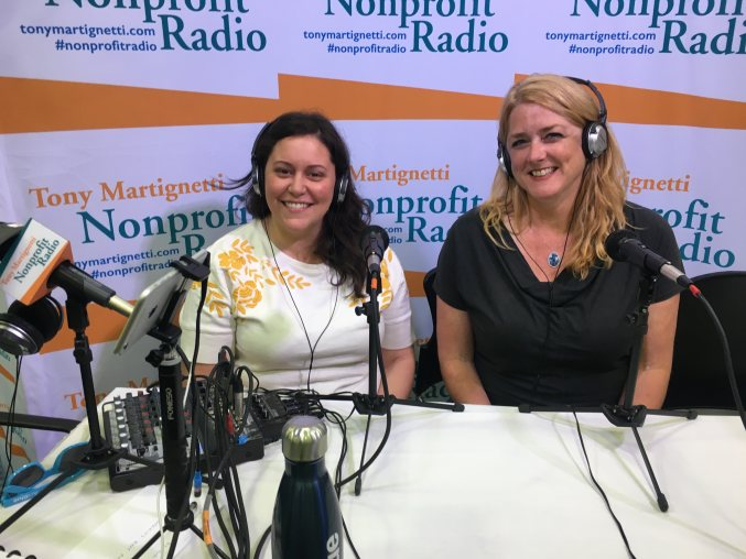 Graziella Jackson and Marcy Rye speaking with Nonprofit Radio