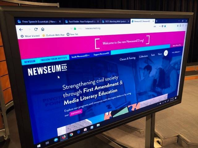 Image of the NewseumED website homepage