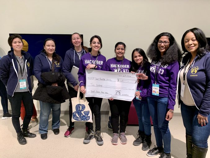 Ladki - best social good hack winning team at HackHer413